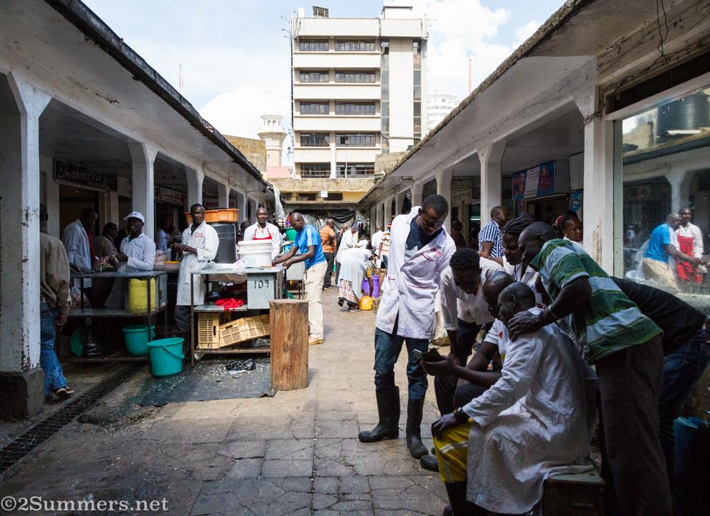 Butcher in Nairobi City Market