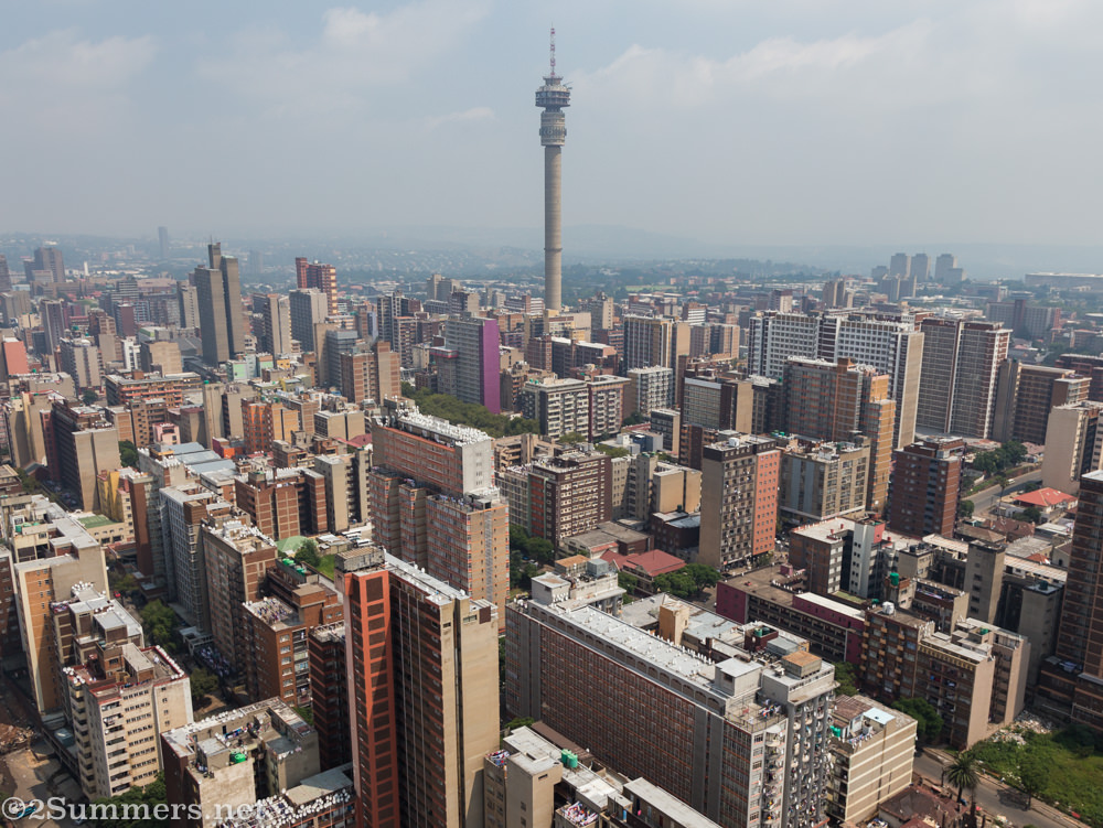 View of Joburg from the top of Ponte City