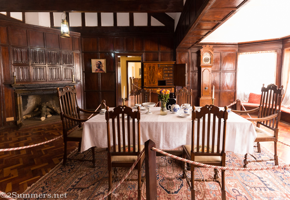 Dining room of Karen Blixen's house