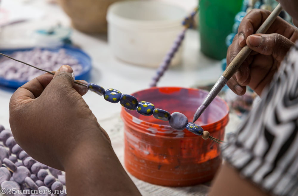 Painting the beads