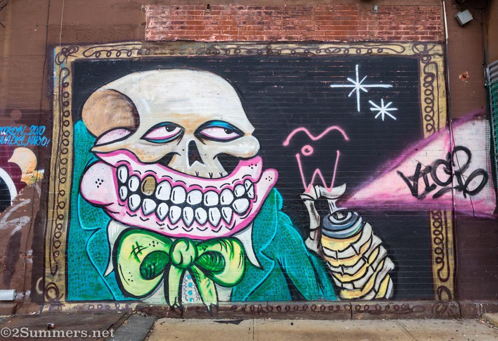 Graffiti wall in Bed-Stuy