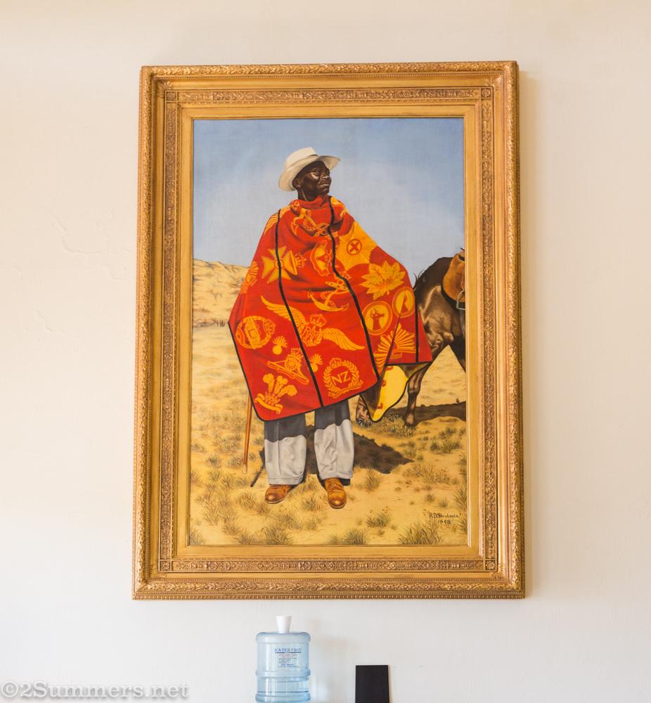 Basotho blanket painting