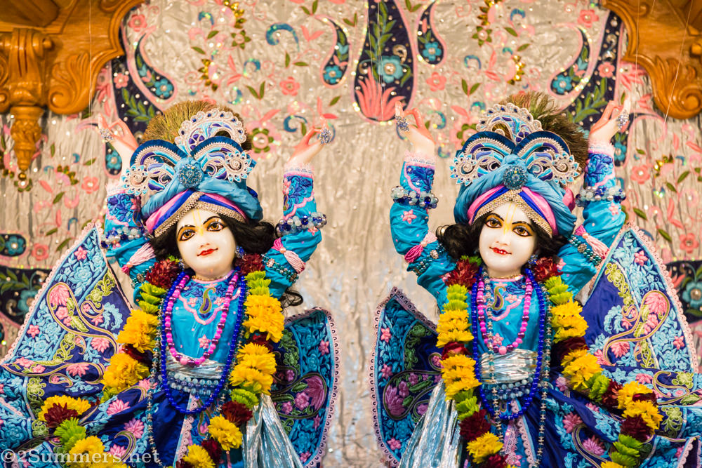 Krishna deities at Lenasia temple
