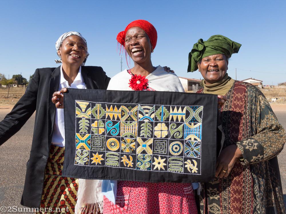 Mama Emily with Nomvula and Mahlapane