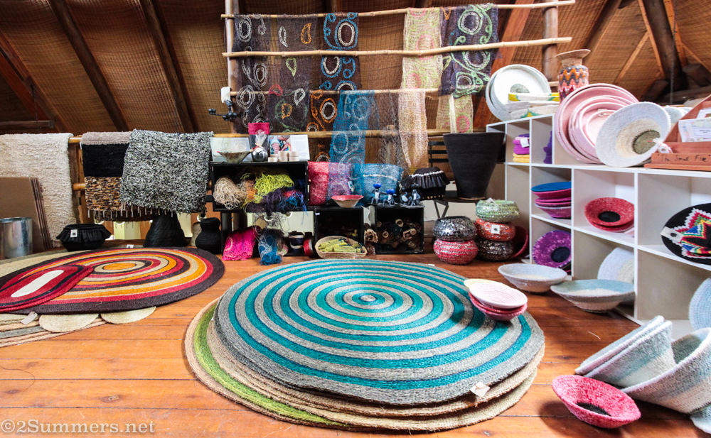 Woven rugs and crafts at Gone Rural in Swaziland