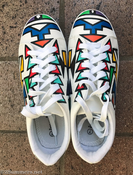 Ndebele painted sneakers