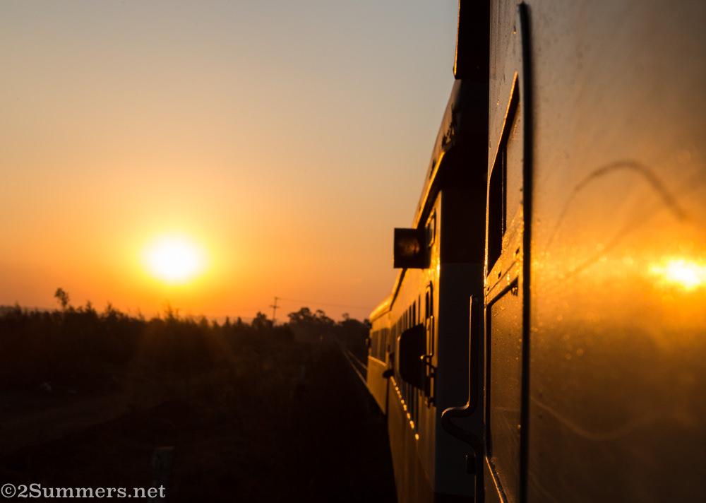 Sunset on the Magaliesburg Express