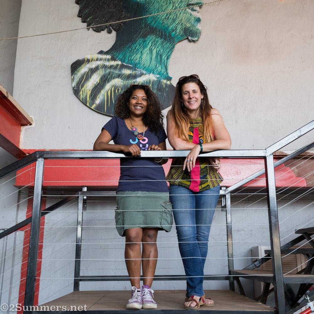 Meruschka and Heather #WalkMyCity
