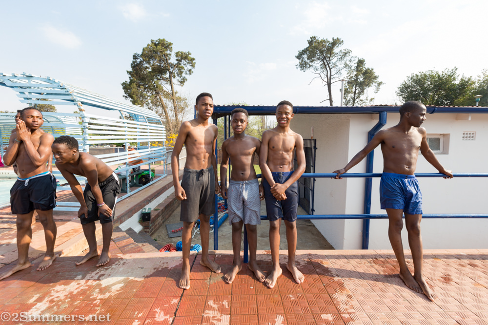 Cool guys at the pool