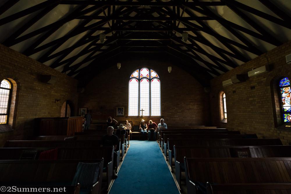 Inside St. Francis chapel