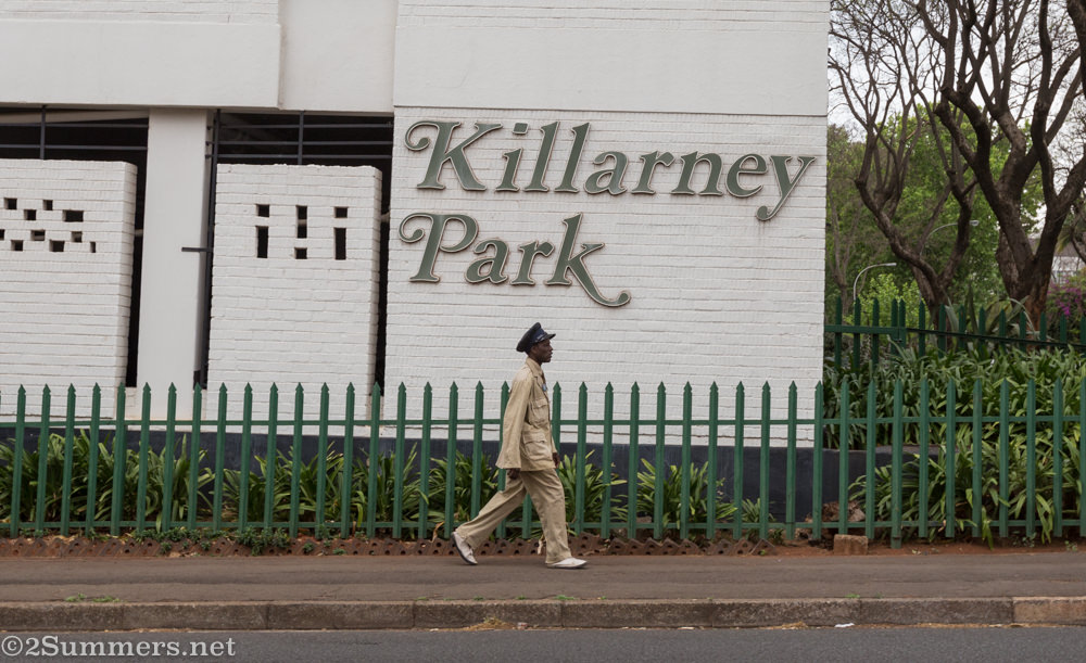 Man walking through Killarney during Johannesburg Heritage Foundation tour