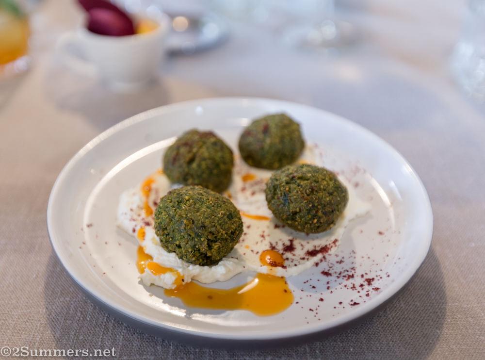 Starter falafel at Great North African Roast
