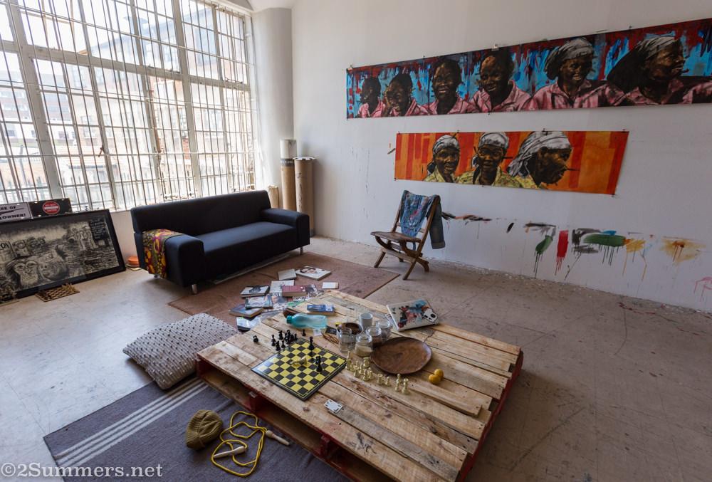 Sizwe Kushu Khoza studio at August House