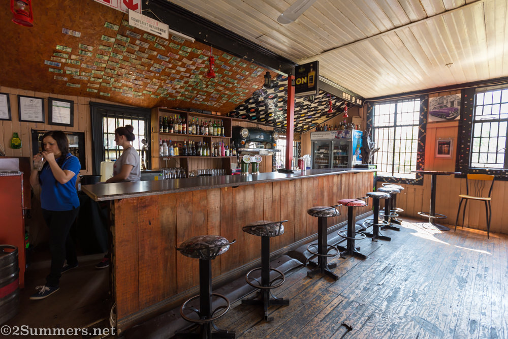 Bar next to the railway station in Cullinan