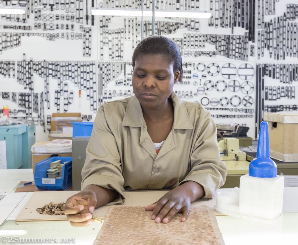 Worker in via La Moda workshop