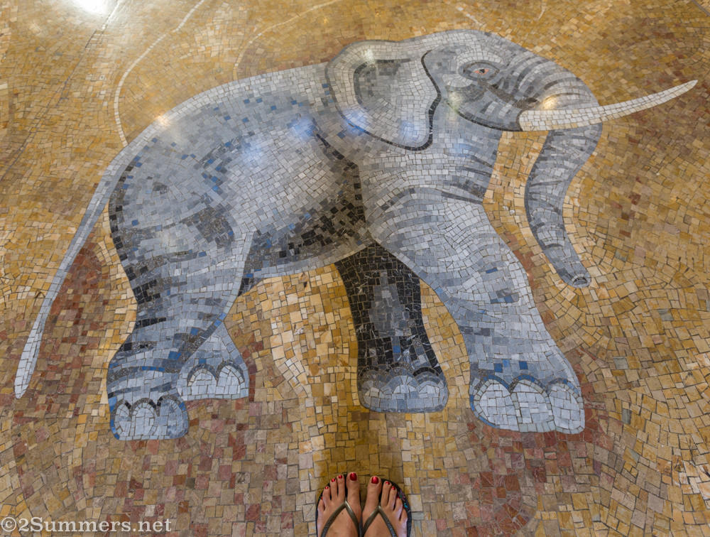 Mosaic floor in the Palace of the Lost City