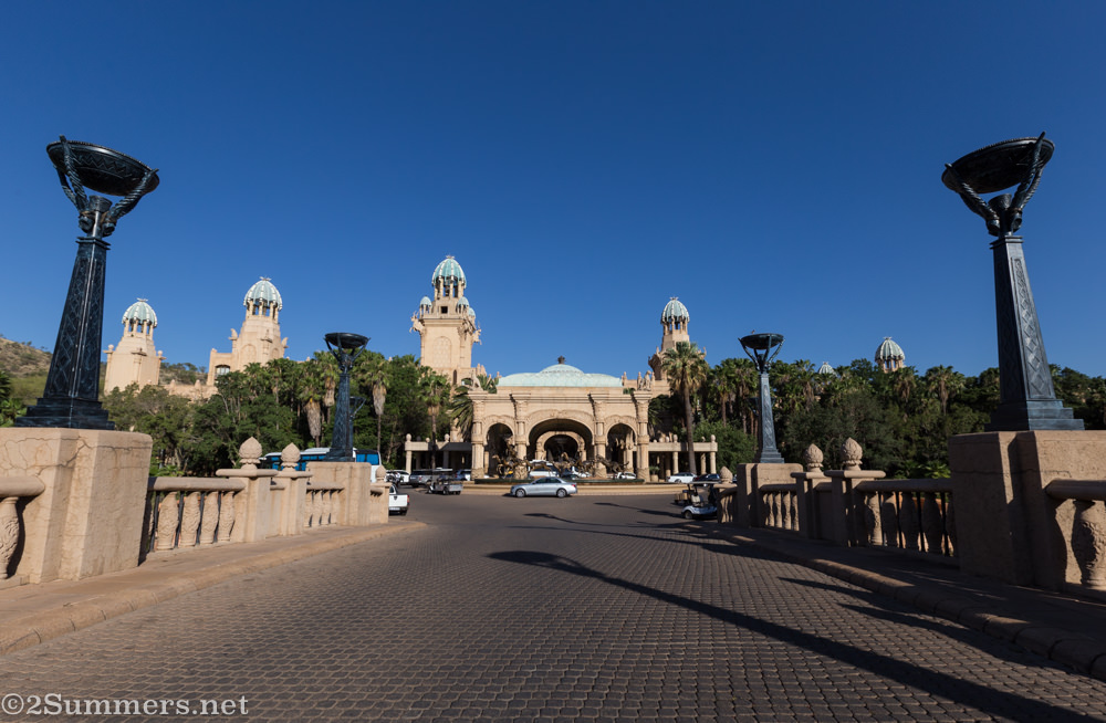 Outside the Palace of the Lost City at Sun City