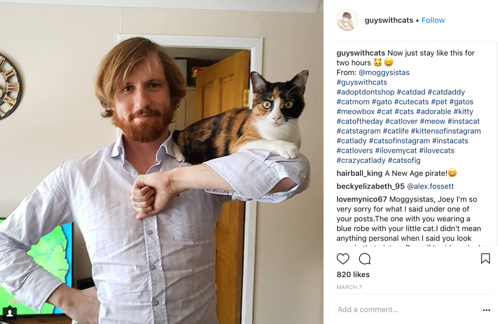 Guy with cat