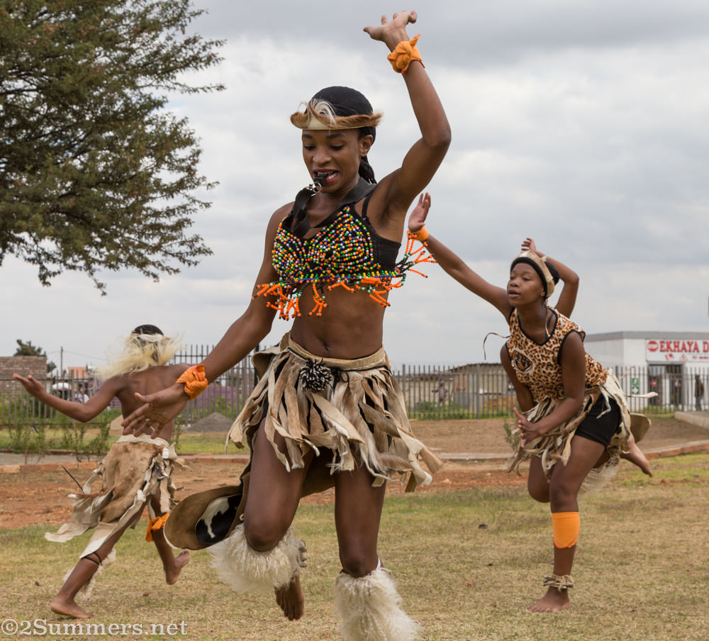 Zulu dancing in Orange Farm