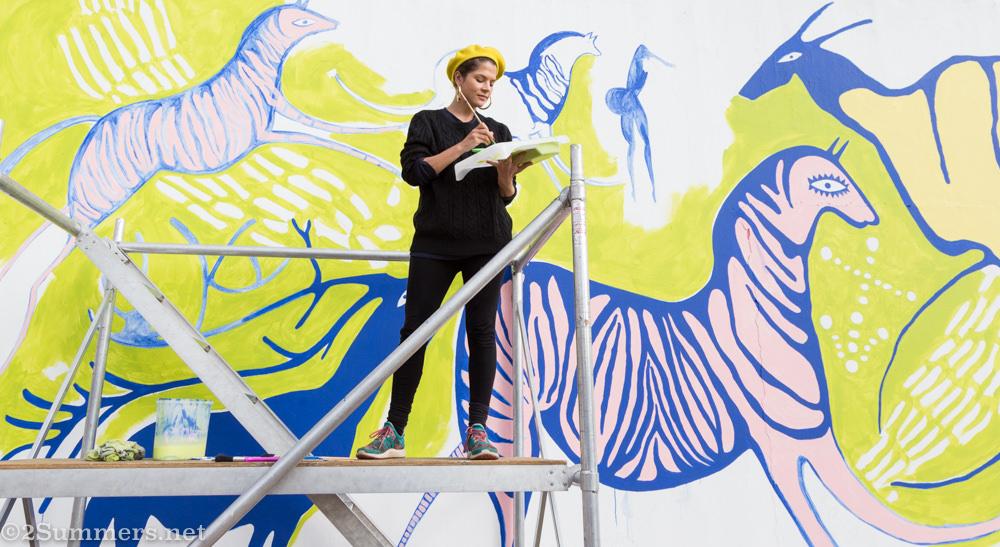 Celeste Theron and Sci-Bono mural