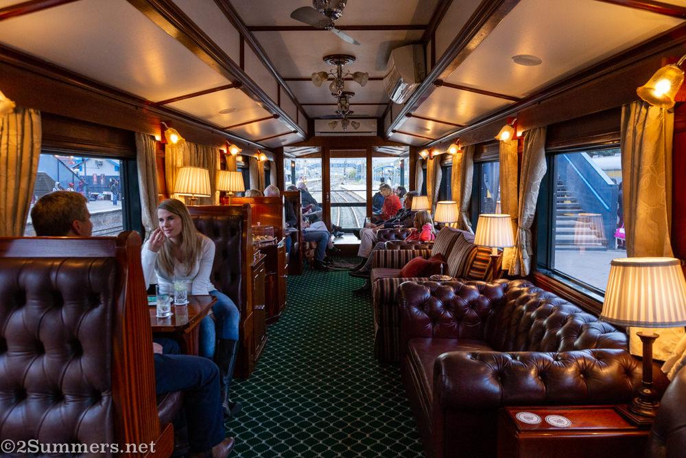 Lounge car on Rovos
