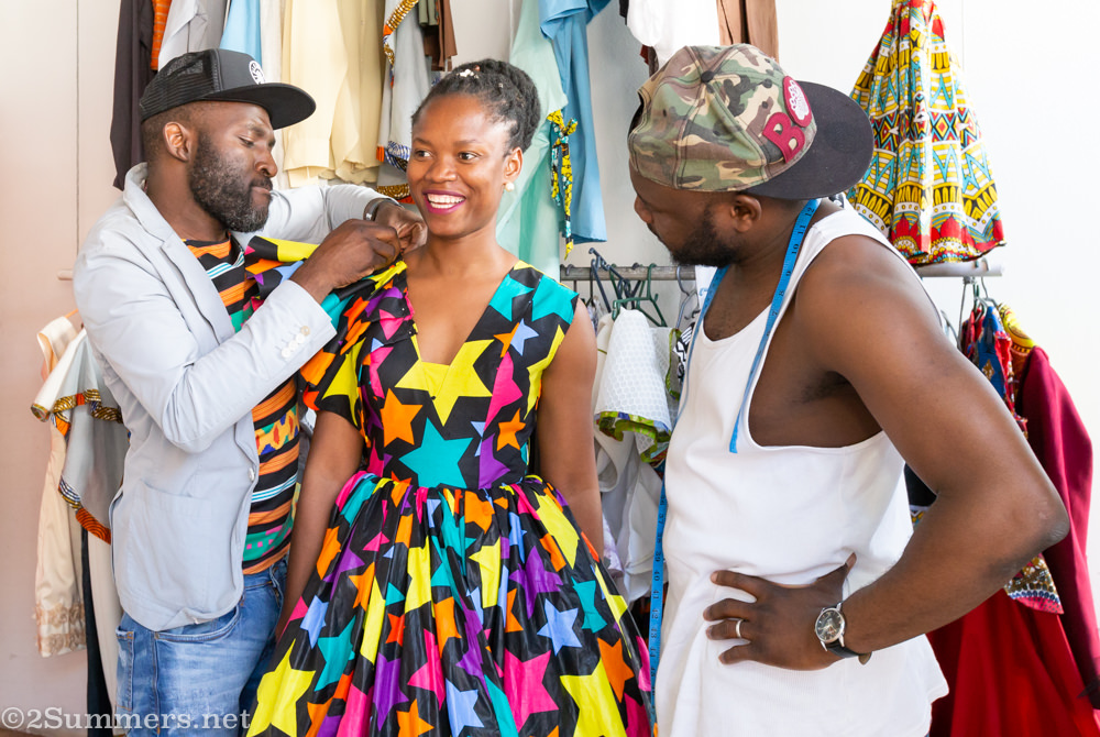 Papy and his tailor at Urban Zulu