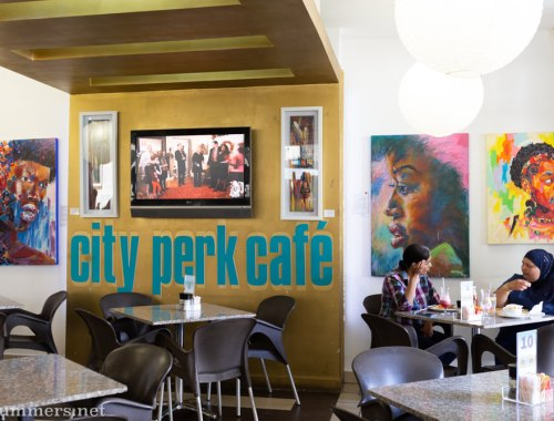 Inside City Perk Cafe