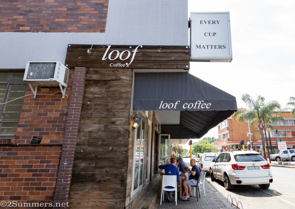 Outside Loof Coffee, where every cup matters.