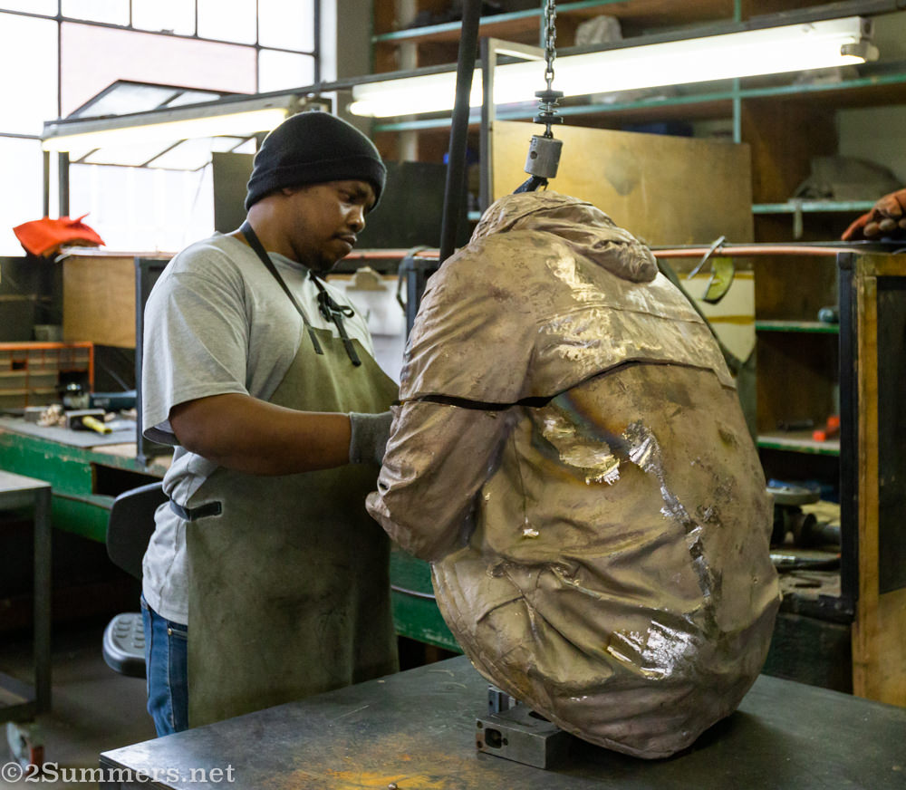 Finishing process at the Workhorse Bronze Foundry