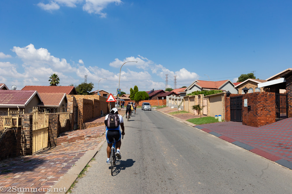 Riding through Alexandra's East Bank.