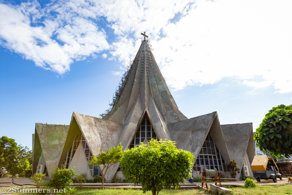 Saint Anthony Catholic Church - lemon-squeezer-shaped church in Maputo