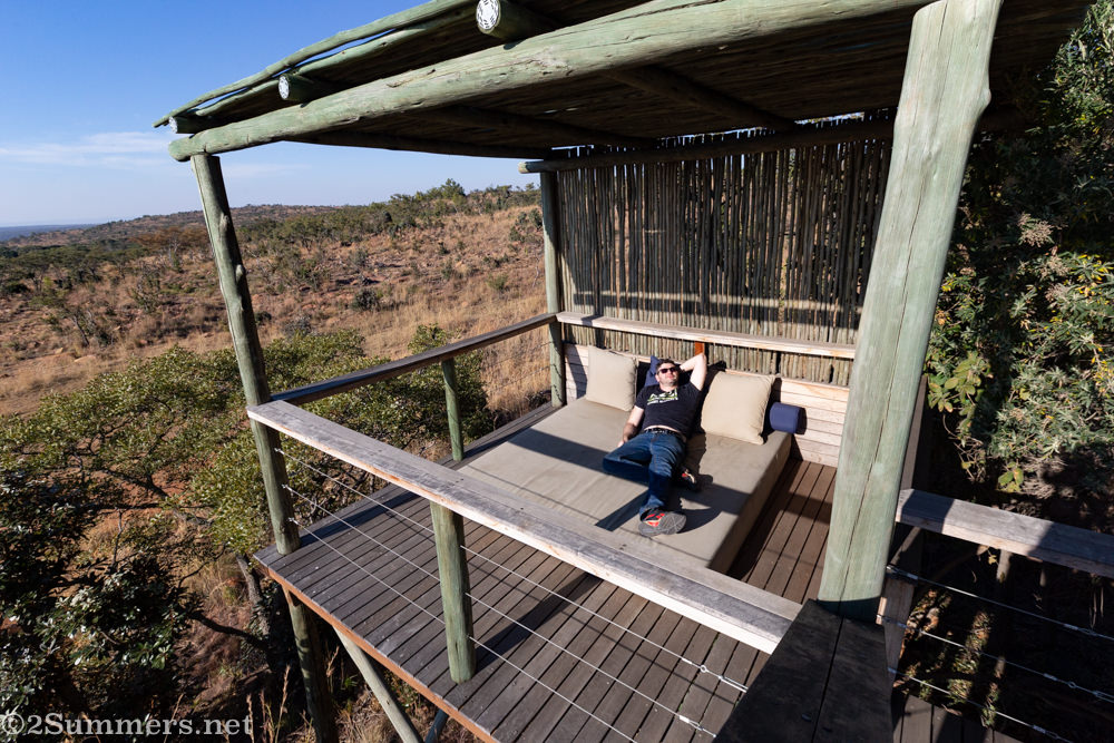 Deck attached to deluxe suite at Mhondoro.