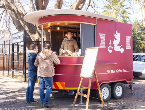 Slouw coffee trailer in Potchefstroom