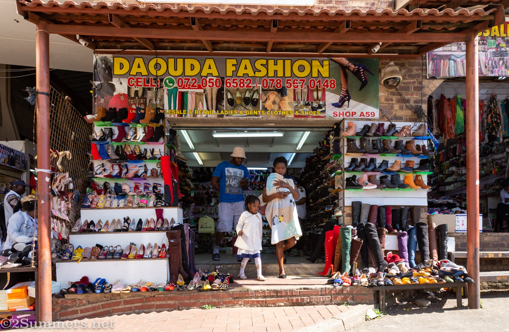 "Daouda Fashions shop in China City, downtown Joburg, visited during the JoburgPlaces ""Of Origins and Migration"" tour"