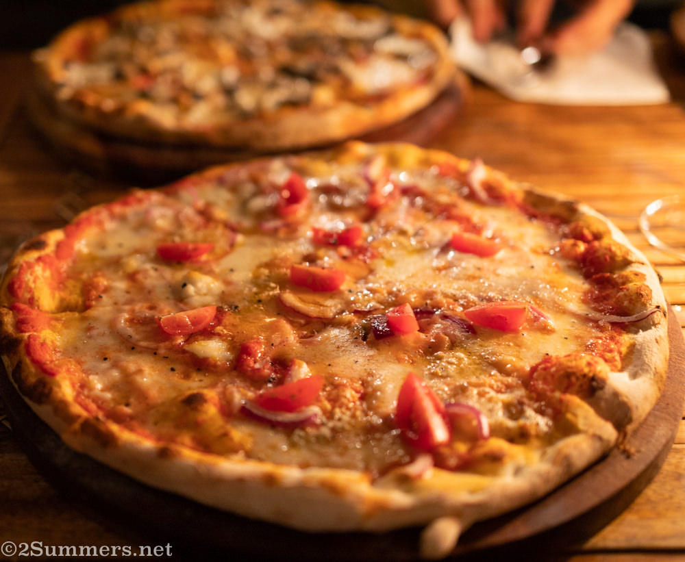 Pizza from Pablo Dos Manos, a Jozi restaurante inside Pablo House in Melville.