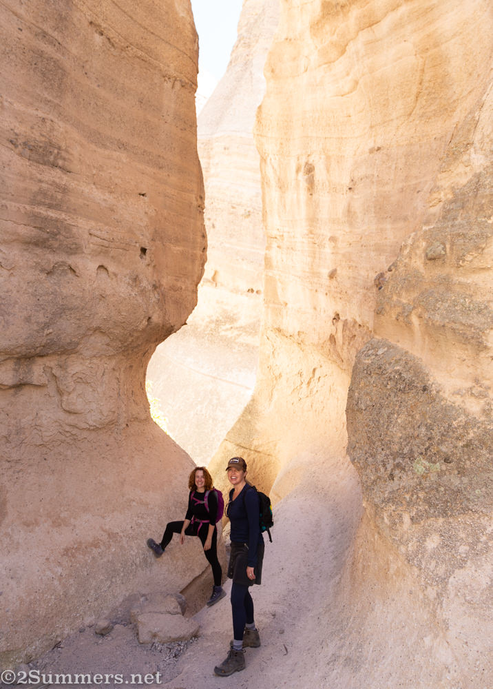 Slot canyon in Tent Rocks