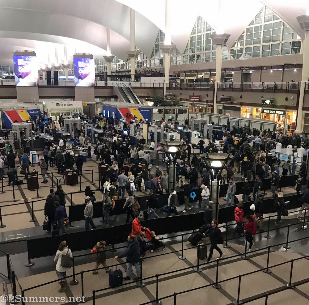 Airport security at Denver airport