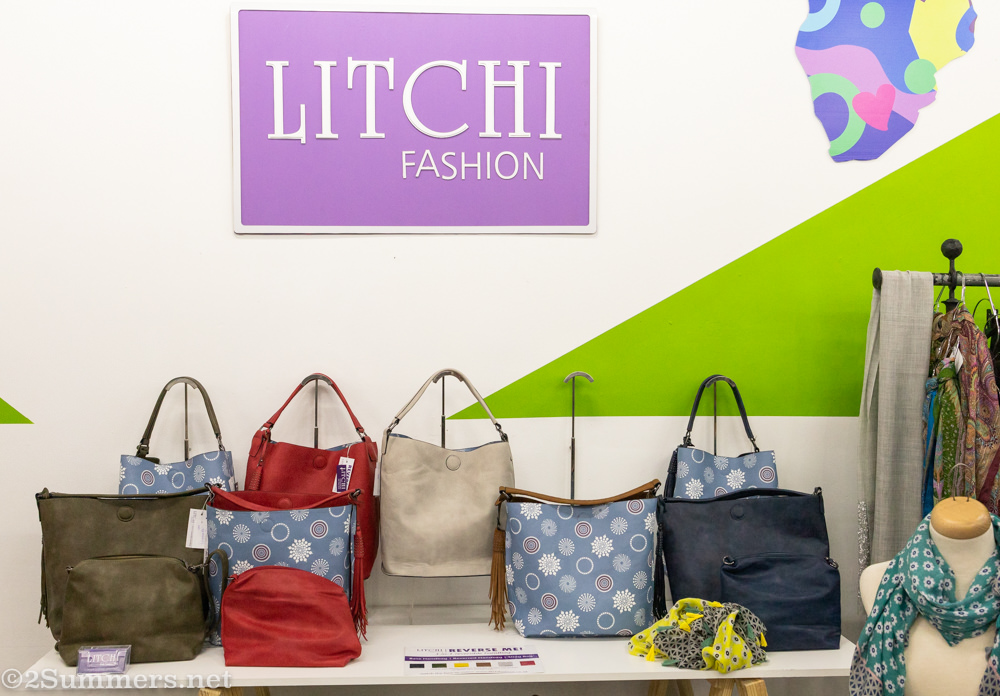 Handbags from Litchi at the Urban Markets pop-up.