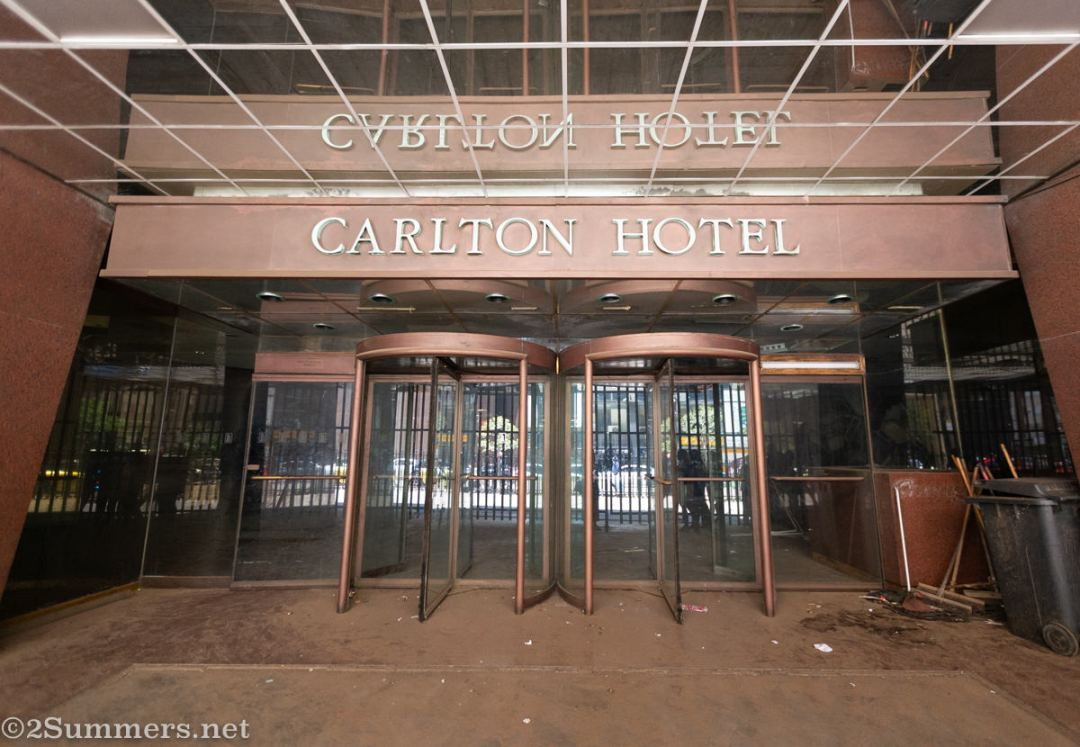 Entrance to the Carlton Hotel