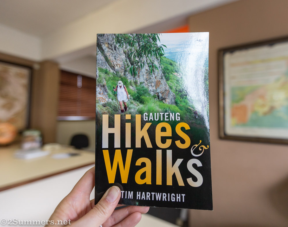 Gauteng hiking guide book