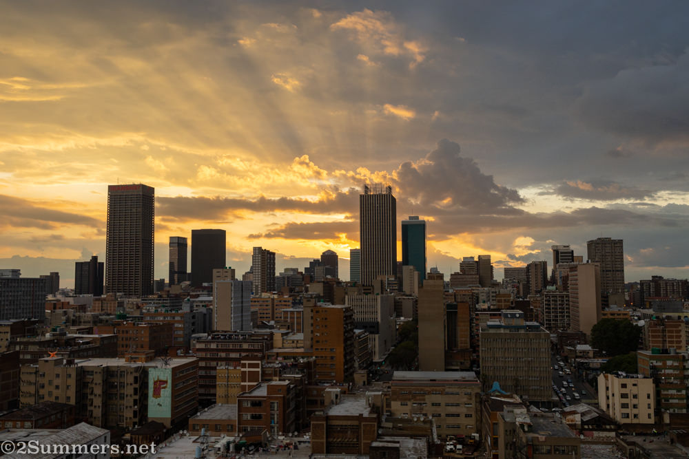 Another view of downtown Joburg