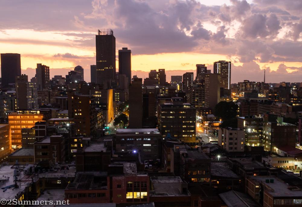 Nighttime Joburg skyline
