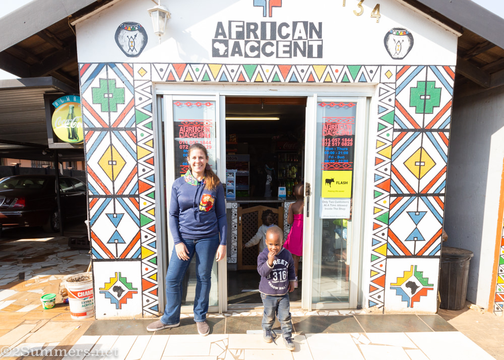 Heather at African Accent in Katlehong
