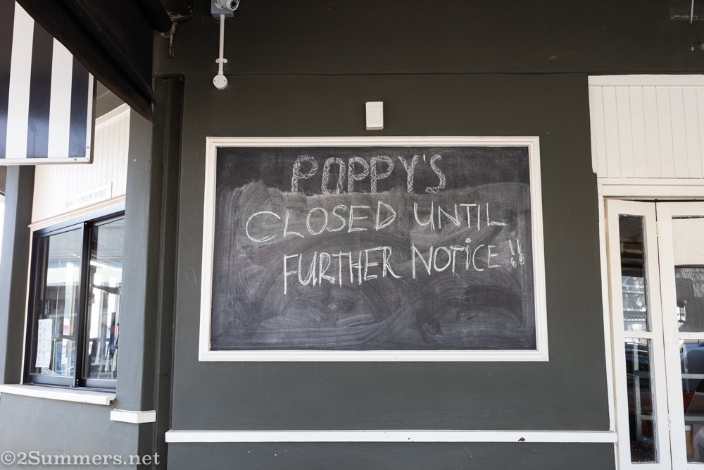 Poppy's, one of many closed restaurants on 7th Street in Melville