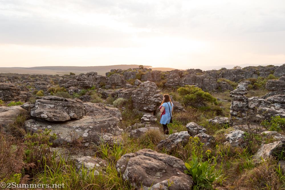 Julia near the escarpment