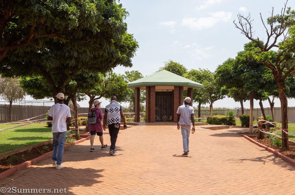 Sidewalk leading to the Thokoza Memorial