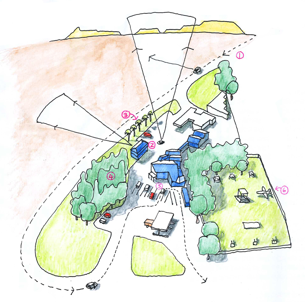 Thorsten's drawing of Uncle Harry's and surrounds