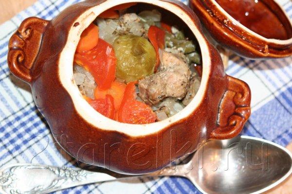 Пряная свинина с овощами в горшочках : 2 ТАРЕЛКИ ...