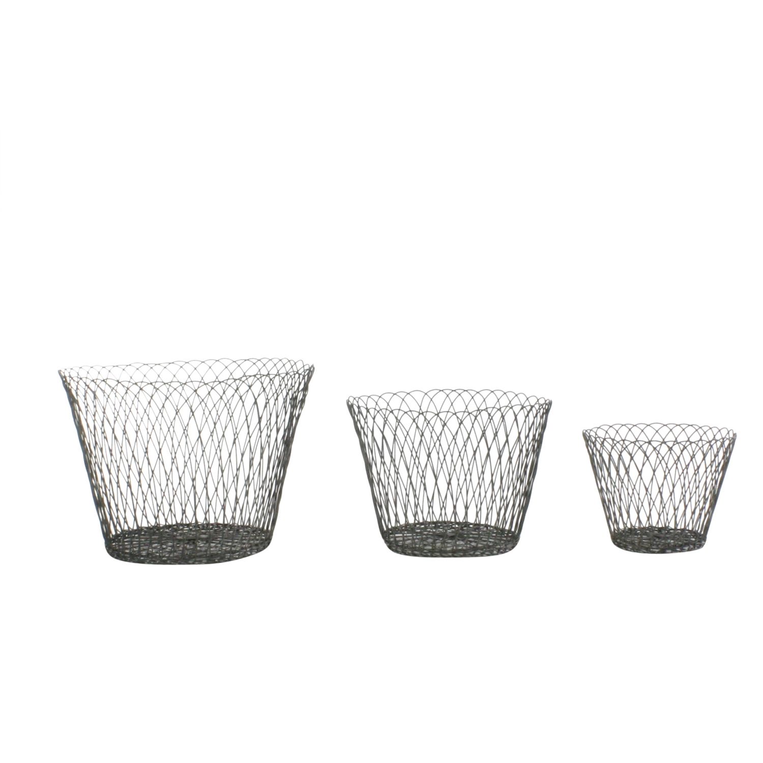 Large Tulle Wire Basket By Homart