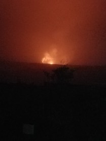 Pele was showing off some of her attitude this night and favored us with a view of some lava